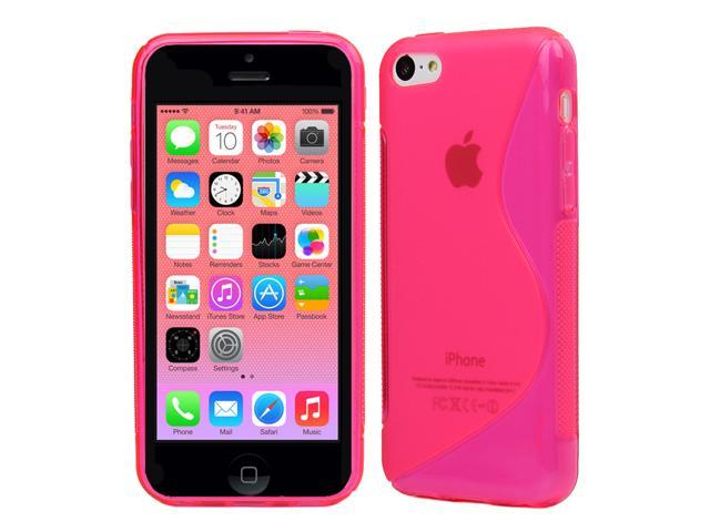 Evecase S-Line Slim TPU Case for 2013 Apple iPhone 5C - Hot Pink (AT&T, Verizon, Sprint, T-Mobile and International Version Compatible)