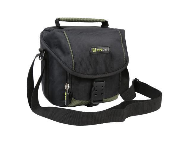 EveCase Black Digital / SLR Camera Pouch Case for FujiFilm FinePix X10, X100, S2950, Nikon L820, Canon EOS Rebel SL1, Canon SX510 HS, Olympus E-M10