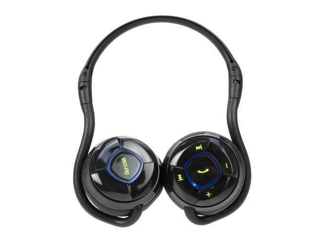 iKross A2DP Bluetooth Stereo Headphone Headset with Black Carrying Case - Supports Wireless Music Streaming and Hands-Free ...