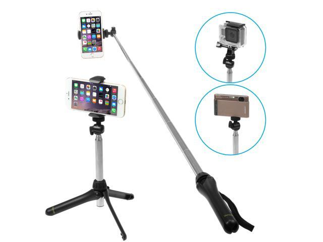 ikross 40inch selfie stick monopod camera tripod stand with smart phone holder and gopro adapter. Black Bedroom Furniture Sets. Home Design Ideas