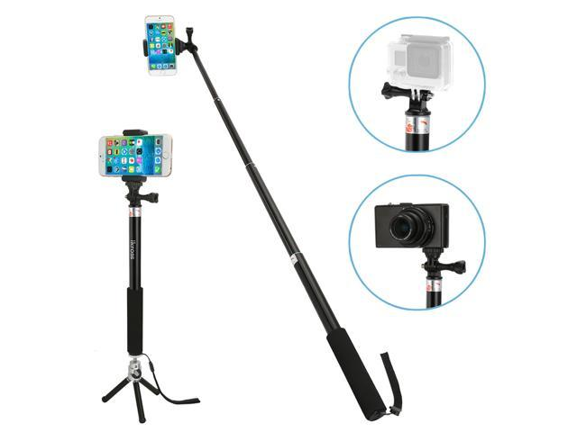 ikross 3in1 gopro hero smartphone camera monopod selfie handheld extendable stick pole with. Black Bedroom Furniture Sets. Home Design Ideas