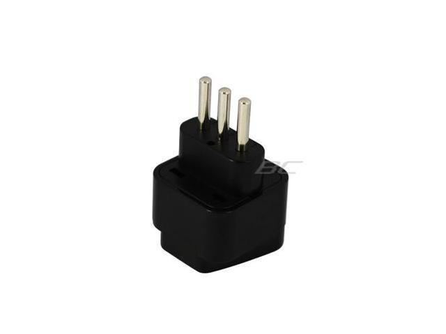 Black US/Europe to Italy Wall Plug Adapter