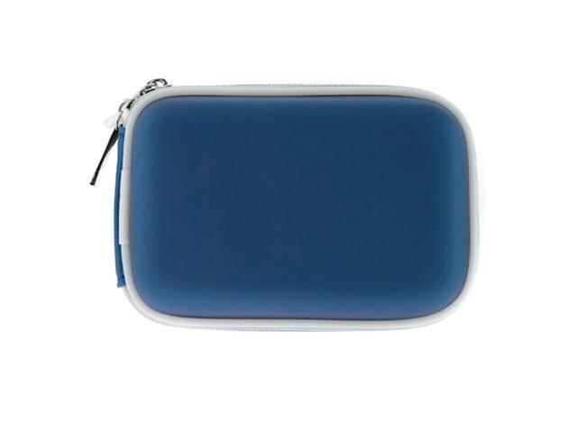 GTMax Premium Digital Camera Zipper Eva Pouch Carrying Case -Blue for Nikon COOLPIX L26, L24, L22, L19, L20