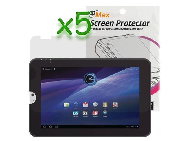 GTMax Clear LCD Screen Protector Film Guard – 5 Pack for Toshiba Thrive 10.1-Inch Android Tablet