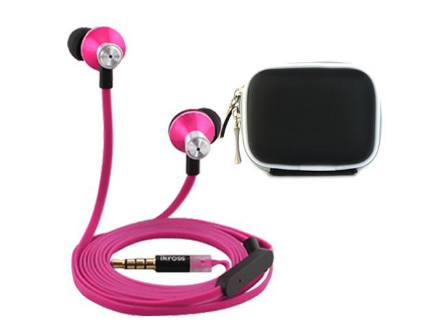 iKross In-Ear 3.5mm Noise-Isolation Stereo Earbuds with Microphone + Black Accessories Carrying Case for Samsung Galaxy Exhibit ...
