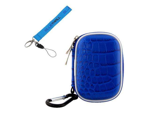 BIRUGEAR Blue Small WaterProof Carrying Storage Eva Case for SanDisk Sansa MP3 Player : Sansa Clip/ Clip+ 4 GB/ 8 GB, Clip Zip, Fuze / Fuze+, KIIS FM slotRadio To Go with * Wrist Strap Lanyard*
