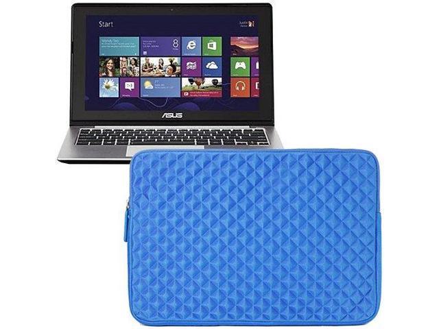 Evecase Blue Diamond Foam Shockproof Sleeve Case Bag for ASUS Q200E, VivoBook X202E, Transformer Book Trio - 11.6 inch Laptop ...