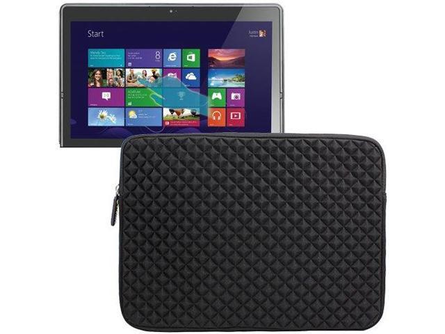 Evecase Diamond Foam Splash & Shock Resistant Portfolio Sleeve Case Bag for Lenovo ThinkPad Twist S230u 12.5-Inch Convertible Touchscreen Laptop (Black)