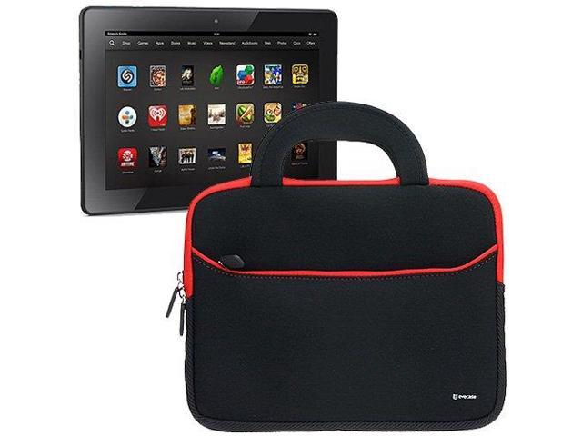 Evecase Black UltraPortable Handle Carrying Portfolio Case Bag for Amazon Kindle Fire HDX 7'' / All-New Kindle Fire HD 7 inch Tablet
