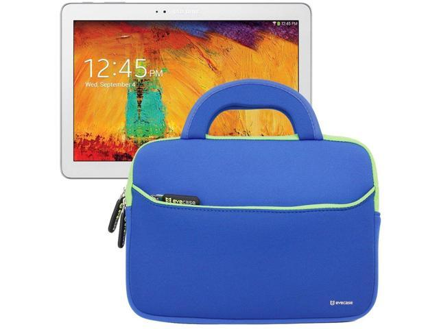 Evecase Ultra Portable Handle Carrying Portfolio Sleeve Case Bag for Samsung Galaxy Note 10.1 2014 Edition / Galaxy Tab 4 / Galaxy Tab 3 - 10.1 inch Tablet – Blue