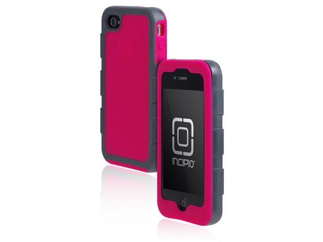 Incipio IPH-589 Cool Gray / Magenta DESTROYER ULTRA Hard Shell Case with Silicone Core for Apple iPhone 4 / iPhone 4S