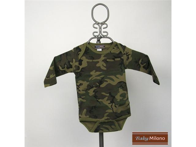 Baby Milano Long Sleeve Camouflage Bodysuit