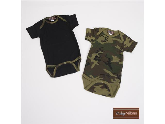 Baby Milano Green Camo Bodysuit Gift Set