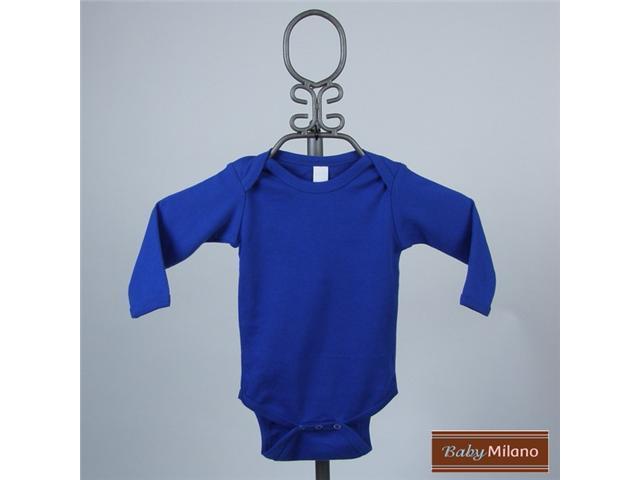 Baby Milano Long Sleeve Royal Blue Bodysuit
