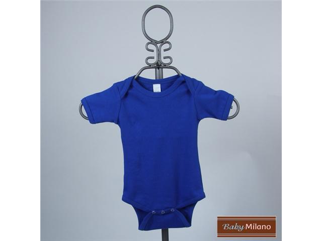 Baby Milano Short Sleeve Royal Blue Bodysuit