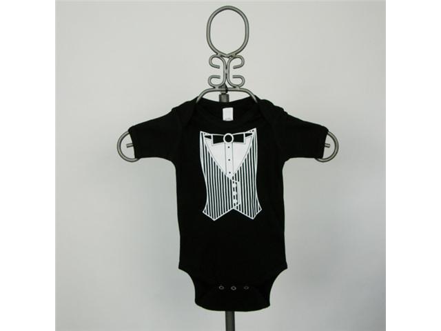 Baby Milano Black Tuxedo Vest Bodysuit