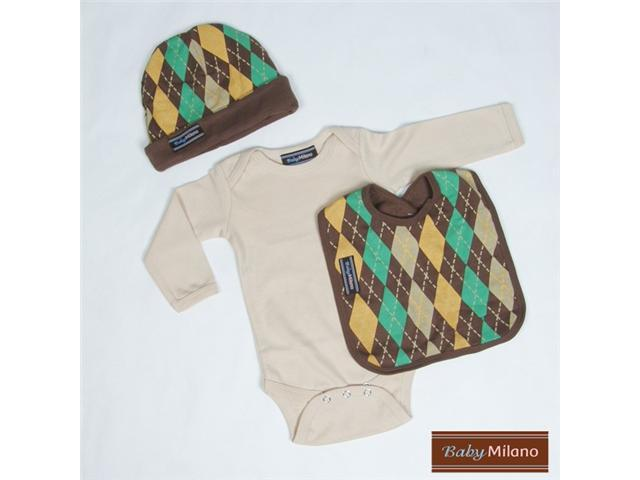 Baby Milano Brown Argyle Unique Baby Clothes Outfit