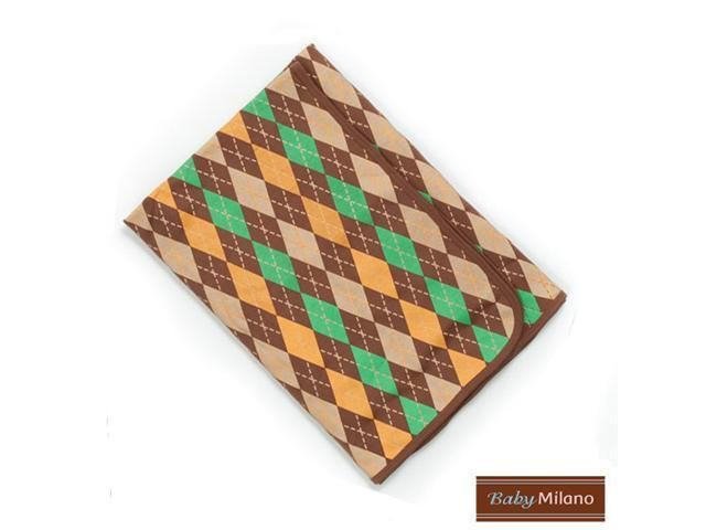 Baby Milano Argyle Baby Blanket in Brown