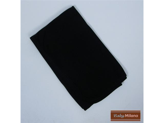 Baby Milano Baby Receiving Blanket in Black