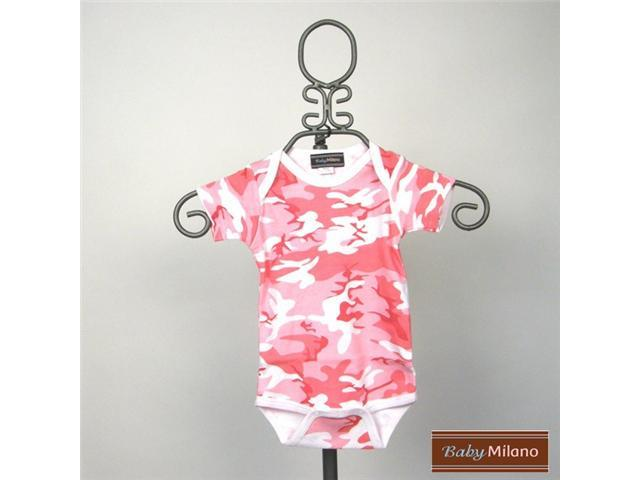 Baby Milano Short Sleeve Pink Camo Bodysuit