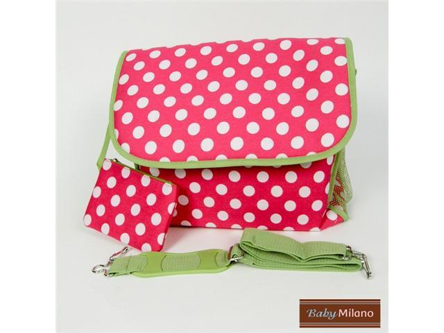 Polka Dots Messenger Diaper Bag