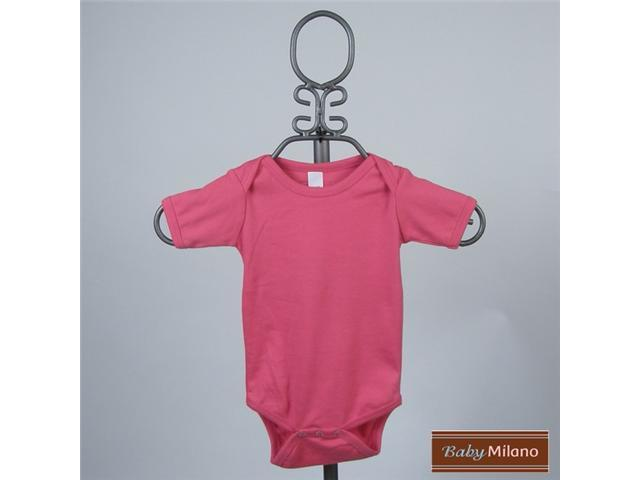 Baby Milano Hot Pink Short Sleeve Bodysuit