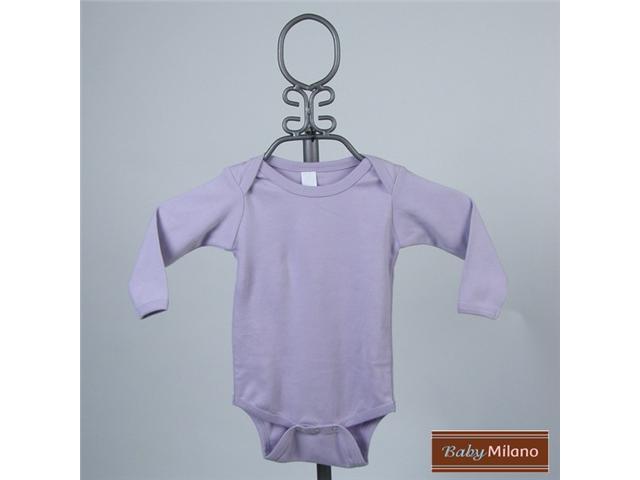 Baby Milano Lavender Long Sleeve Bodysuit