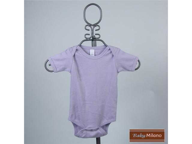 Baby Milano Lavender Short Sleeve Bodysuit