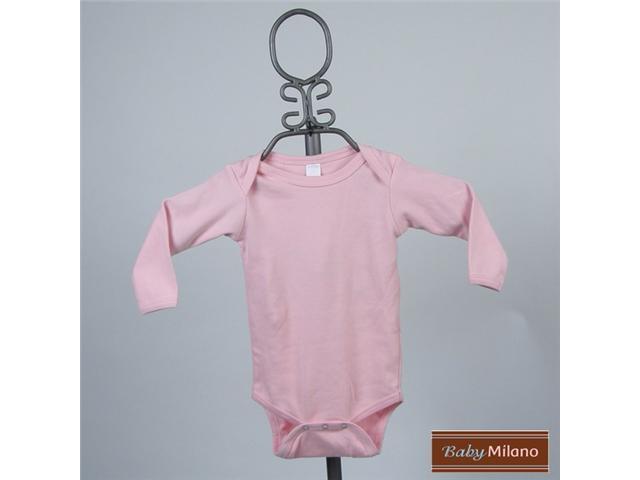 Baby Milano Light Pink Long Sleeve Bodysuit