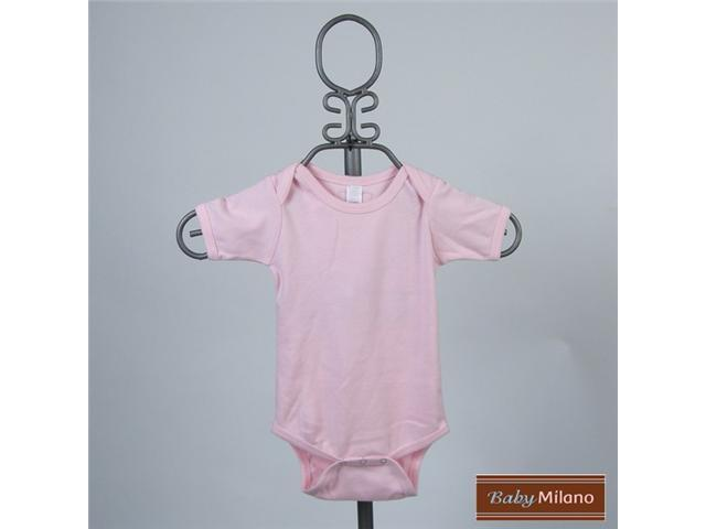 Baby Milano Light Pink Short Sleeve Bodysuit