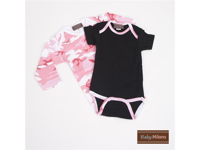 Baby Milano Pink Camo Bodysuit Gift Set