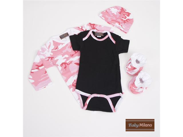 Baby Milano Pink Camo Baby Clothes Gift Set