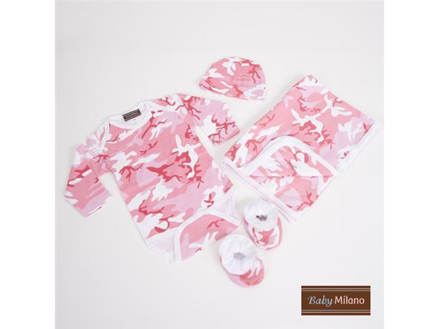 Baby Milano Pink Camo Baby Clothing Deluxe Gift Set