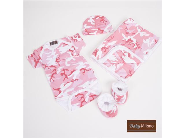 Baby Milano Pink Camo Baby Clothes Deluxe Gift Set