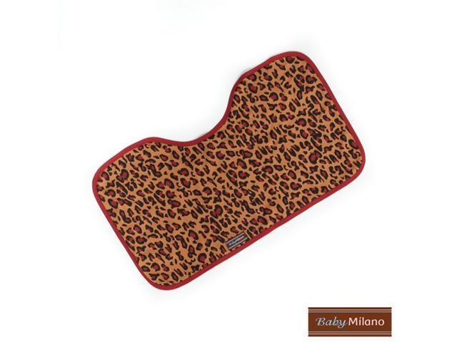 Baby Milano Baby Burp Cloth in Leopard Print