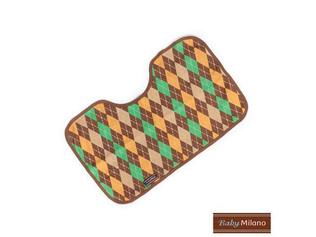 Baby Milano Brown Argyle Burp Cloth