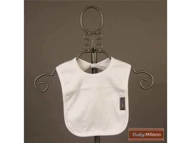 Baby Milano White  Bib