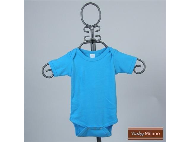 Baby Milano Turquoise Short Sleeve Bodysuit