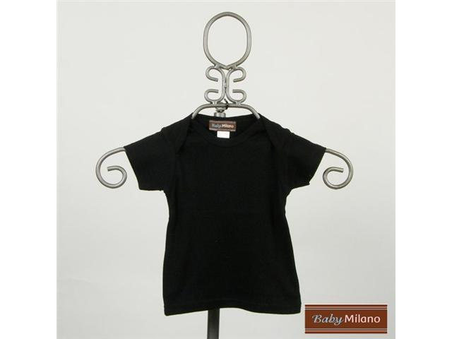 Baby Milano Black Short Sleeve Baby Shirt