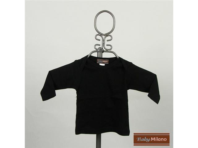 Baby Milano Black Long Sleeve Baby Shirt