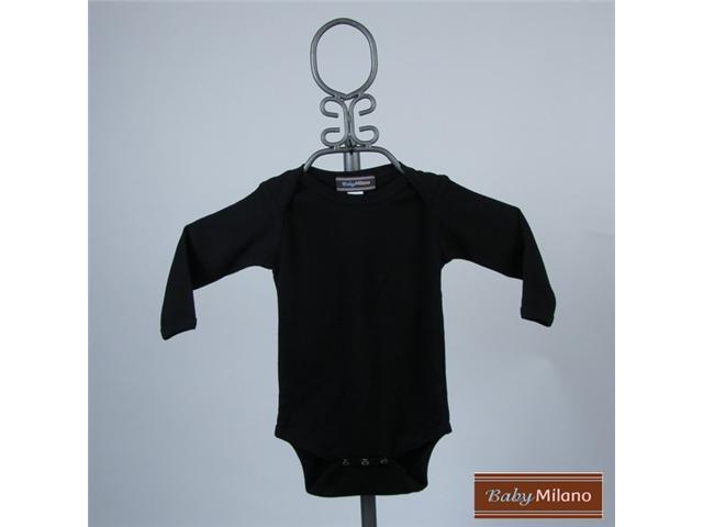 Baby Milano Long Sleeve Black Bodysuit
