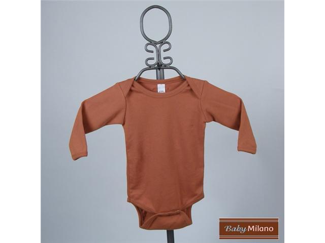 Baby Milano Long Sleeve Burnt Orange Bodysuit
