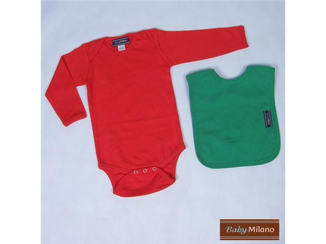 Baby Milano Red and Green Baby Christmas Outfit