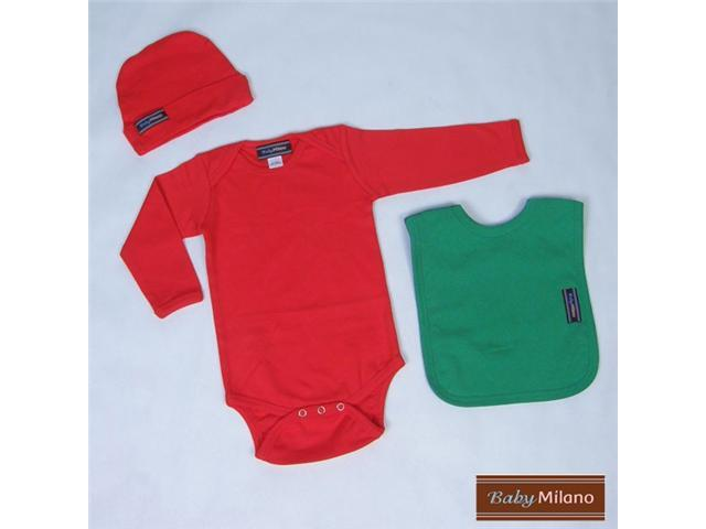 Baby Milano Red and Green Baby Outfit
