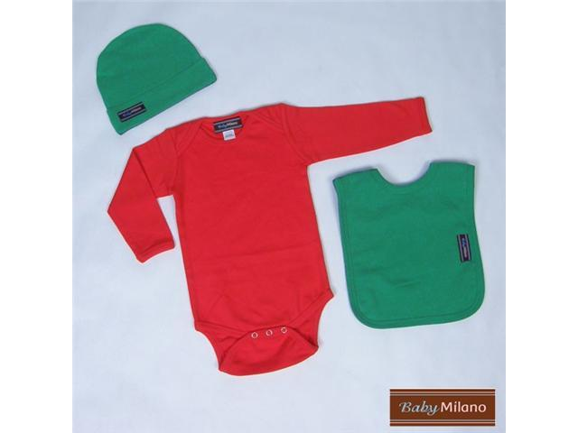 Baby Milano Red with Green Christmas Outfit