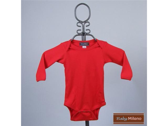 Baby Milano Long Sleeve Red Bodysuit