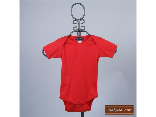 Baby Milano Short Sleeve Red Bodysuit