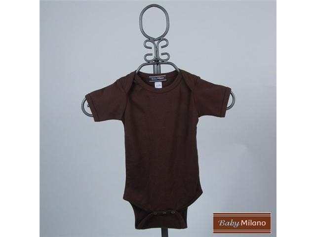 Baby Milano Brown Short Sleeve Bodysuit