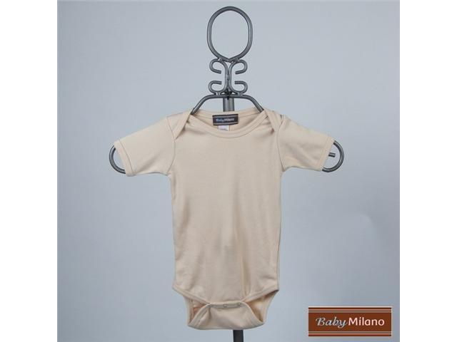 Baby Milano Tan Colored Short Sleeve Bodysuit
