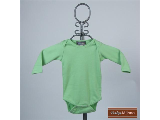 Baby Milano Lime Green Long Sleeve Bodysuit